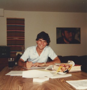 "Joe Toplyn writes a spec episode of ""Hart to Hart"" in his first apartment, in White Plains, NY, during the summer of 1980"
