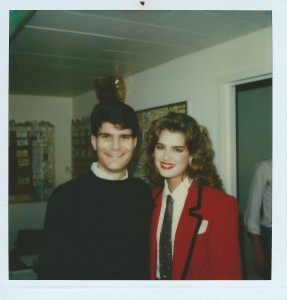 "Joe Toplyn with Brooke Shields at ""Late Night with David Letterman"""
