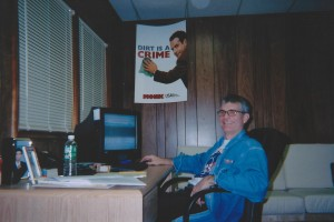 "Joe Toplyn in his ""Monk"" office in Summit, New Jersey"