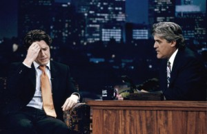 Hugh Grant with Jay Leno
