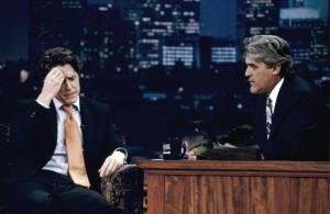 Hugh Grant with Jay Leno