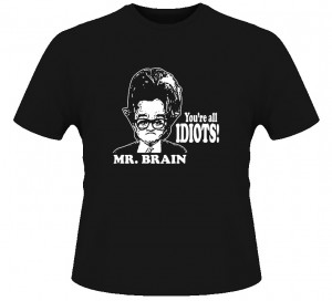 T-shirt of Jay Leno as Mr. Brain