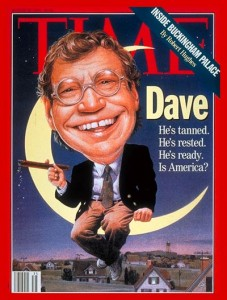 David Letterman on Time magazine cover, Aug. 30, 1993