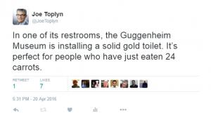 toilet tweet