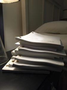 A big pile of movie scripts