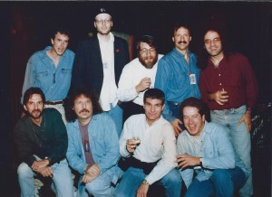 "Joe Toplyn and other writers of ""The Tonight Show with Jay Leno"" in Las Vegas, November 1995."
