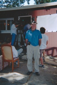 "Joe Toplyn on the set of the TV show ""Monk"""