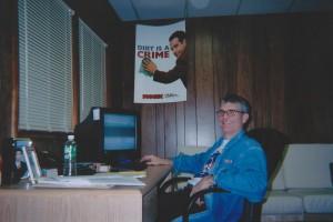 """Joe Toplyn in his """"Monk"""" office in Summit, New Jersey"""