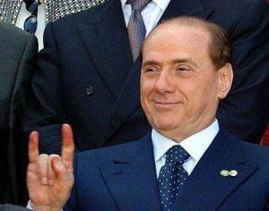 Silvio Berlusconi signing