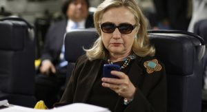 Hillary Clinton and her Blackberry