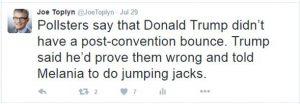 Joke about Melania Trump