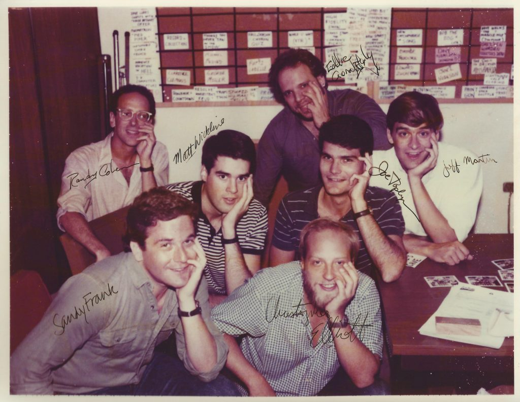 """Late Night"" writing staff in Sept. 1984"